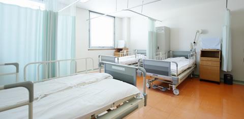 みわ記念病院病室(4人部屋)